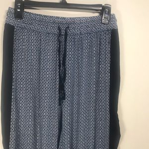 CYNTHIA ROWLEY Navy and White Lounge Pants, Size S